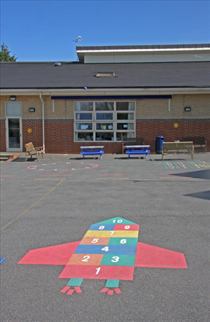 Seating area in the playground